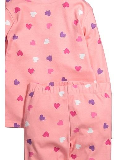 Zeyland Kalp Baskılı Pijama Takımı (5-14yaş) Kalp Baskılı Pijama Takımı (5-14yaş) Pembe